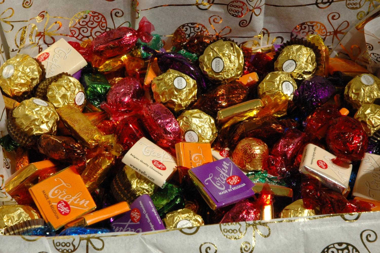 sjokoladekurv gaver levering